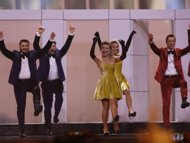 DoReDos from Moldova get into the spirit of Eurovision.