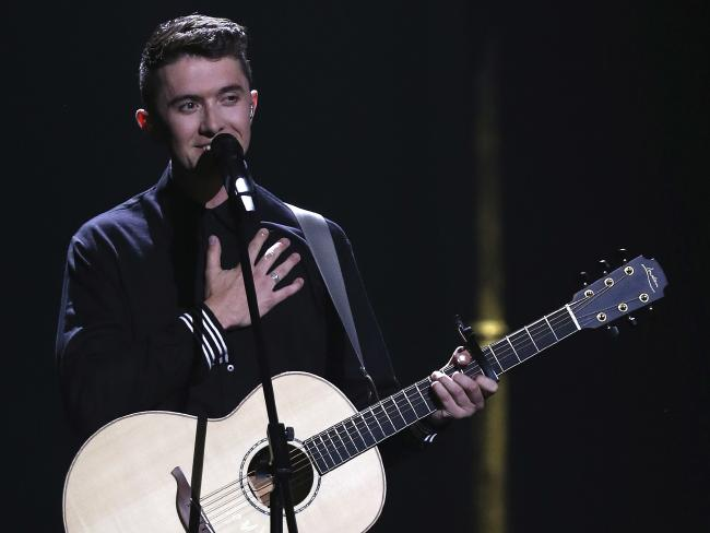 Ryan O'Shaughnessy from Ireland performs the same-sex love anthem Together.