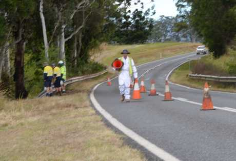 A crash scene remains in place this morning on Waterfall Way near Hennessey's Lane, west of Bellingen.