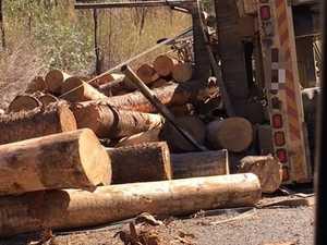 UPDATE: Logging truck rolls on Gladstone Monto Rd