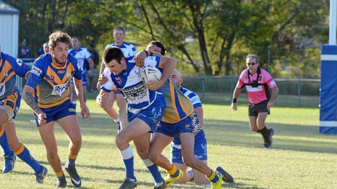 Kieran Harvey on the attack for Nanango.