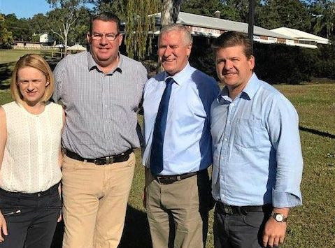 Senator Amanda Stoker, Member for Wright Scott Buchholz, Deputy Prime Minister Michael McCormack and Agriculture Minister David Littleproud toured the Cunningham Highway and Amberley Interchange upgrade area.