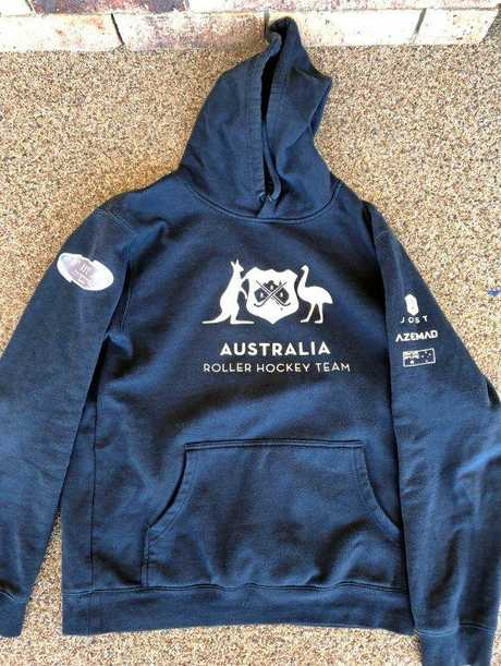 The Australian jumper stolen from a Gympie motel room on Thursday.