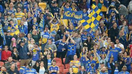 Parramatta Eels fans are certainly long-suffering. (AAP Image/Jono Searle)