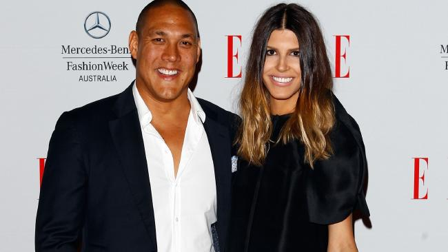 Geoff Huegill and his wife Sara were charged with cocaine possession in 2014 and placed on good behaviour bonds. Picture: Caroline McCredie.