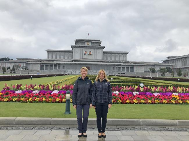 Rachel and Marty — aka the Very Hungry Nomads — in North Korea.