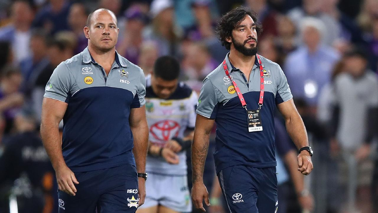The Cowboys need more from Matt Scott and Johnathan Thurston. Picture: Mark  Kolbe/Getty Images