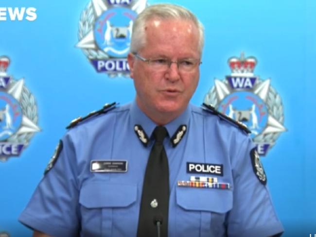 "WA Police Commissioner Chris Dawson said Mr Cockman can ""say what he wants""."
