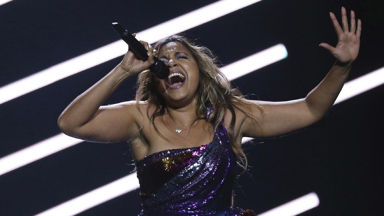 Jessica Mauboy performs We Got Love. Picture: AP Photo/Armando Franca