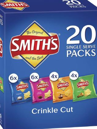 A box of Smiths crinkle cut chips should weight 380g, but actually weight 369g.