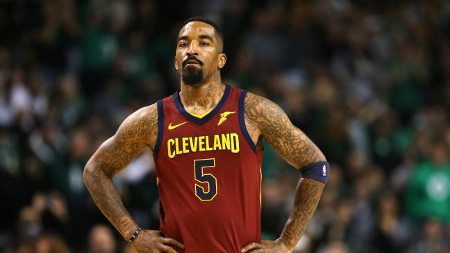 JR Smith looks dejected as the Cleveland Cavaliers suffer a game one smackdown.