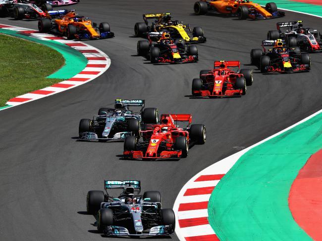 Lewis Hamilton basically led from start to finish.