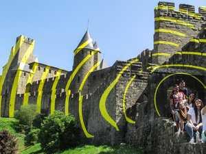 Artist 'ruins' historic city