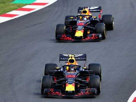 Daniel Ricciardo was behind his teammate all day.