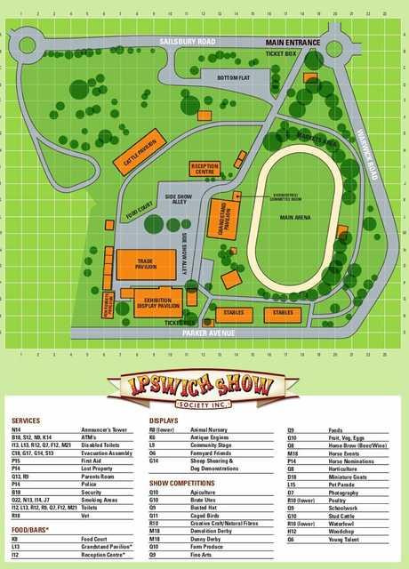 Ipswich Show map