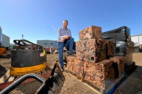 Commercial Mine Recycling owner Peter Bourke.