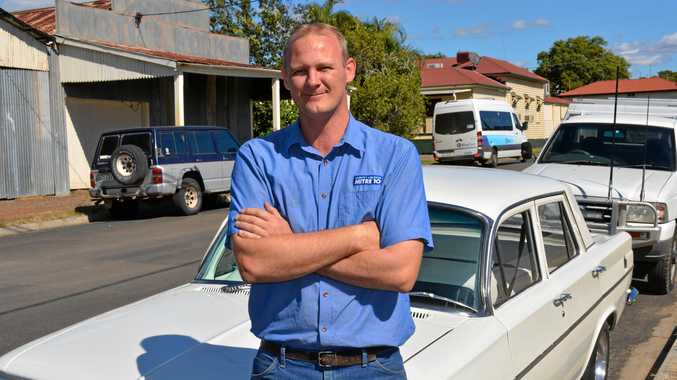 LABOUR OF LOVE: Troy Green of Hatton Vale with his 1964 Holden EH.