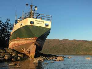 Cid Harbour wreck to finally be removed after TC Debbie
