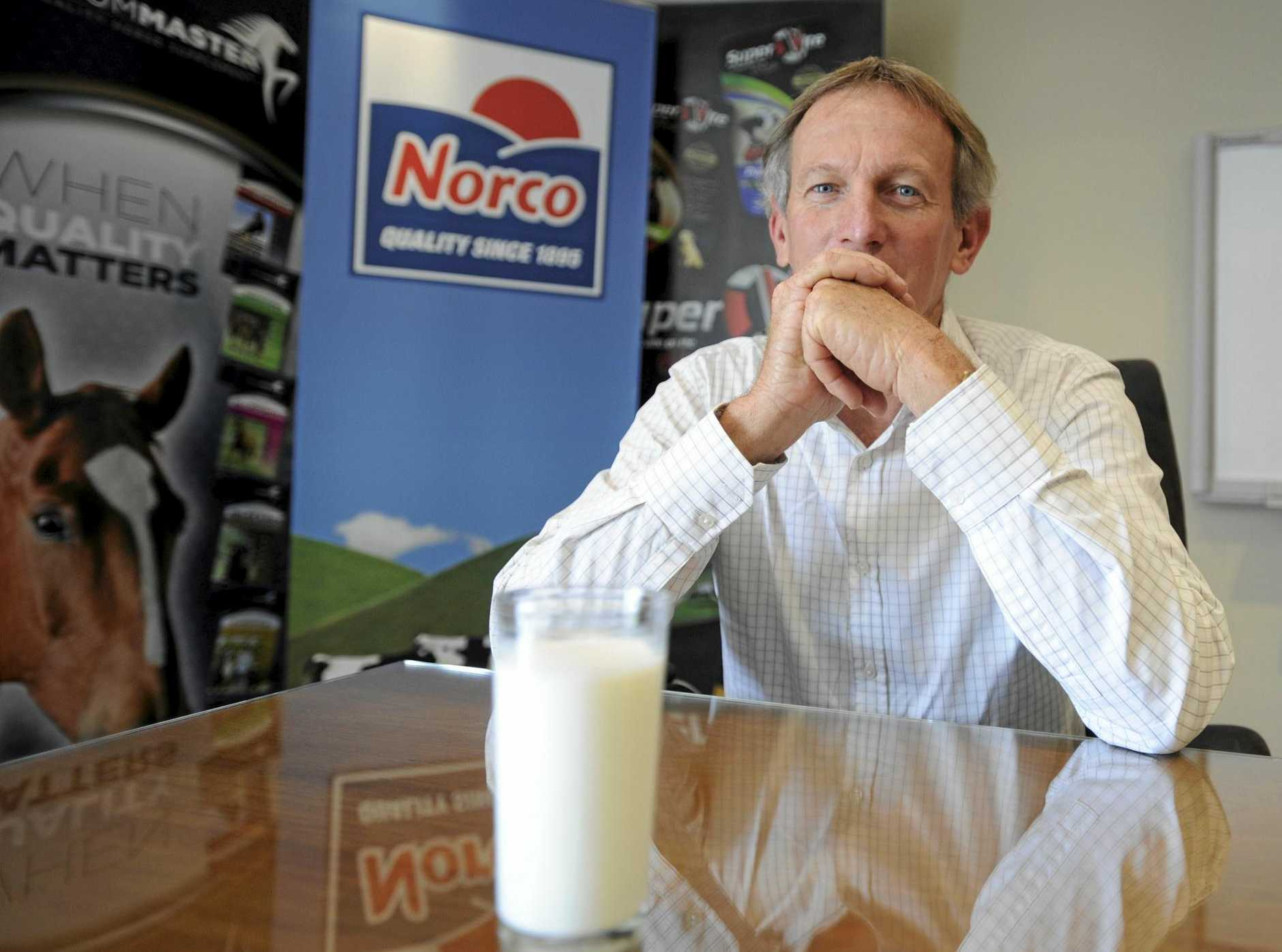 HONOURING AGREEMENTS: Norco Co-operative Ltd chair and acting chief executive Greg McNamara said the company will continue to honour their agreement with supplier farmers but now needs to find an alternative market for 300,000Lt milk.