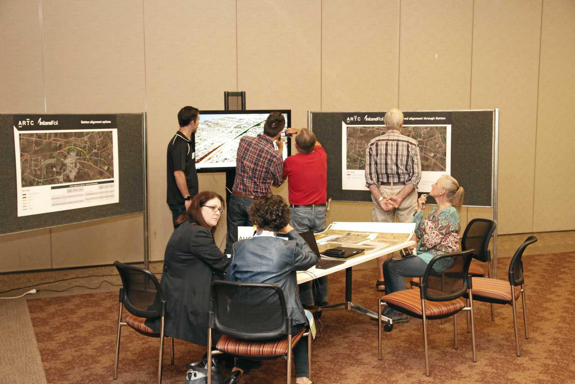 ON TRACK: ARTC held an information session on the Inland Rail project on Monday evening to answer the community's questions.