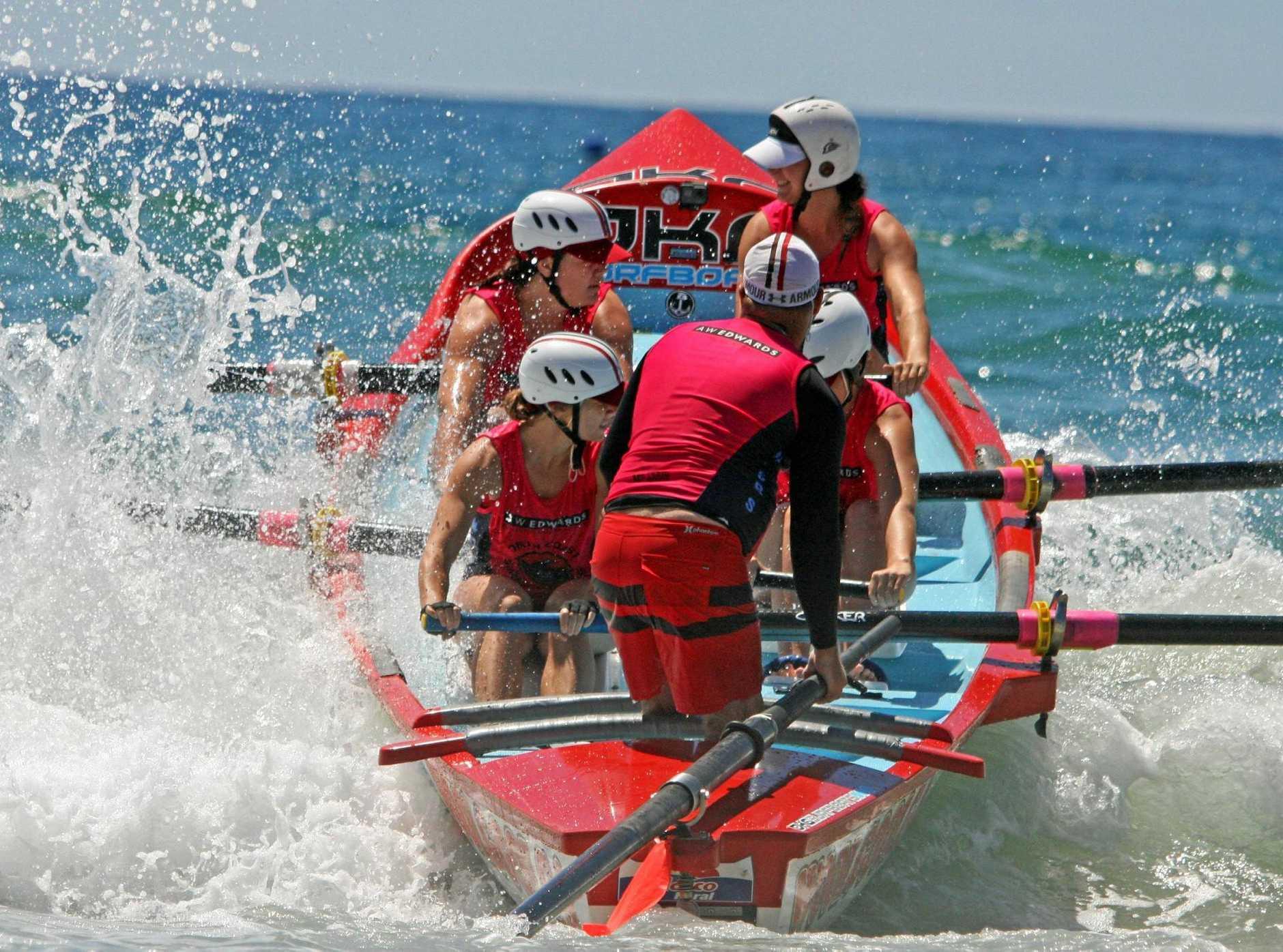 MAKING A SPLASH: Woolgoolga SLSC's surf boat crews performed strongly at the Australian Surf Life Saving Championships in Western Australia.