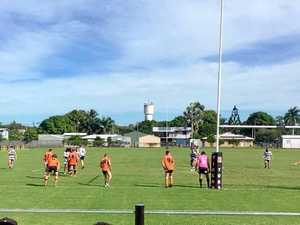 Wests player shrugged off Brothers to score the winning try