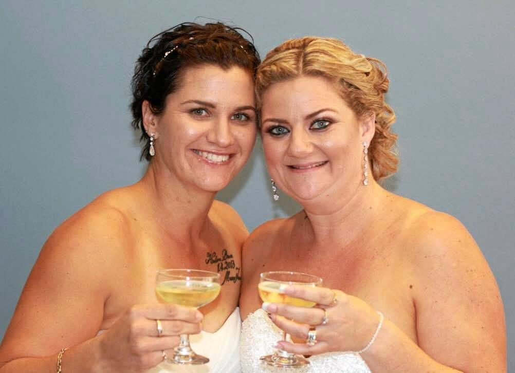 Newlywds Janelle and Toni Chirio are searching for a mystery photographer who captured their Bullcock Beach wedding on Friday, May 11.