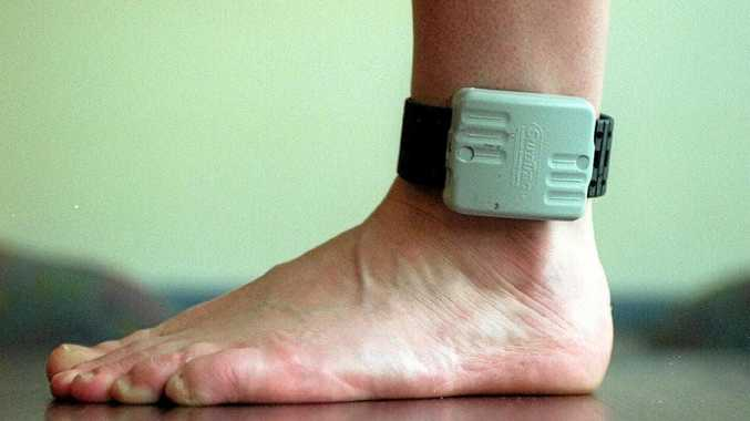 A man who cut off his monitoring ankle bracelet to avoid detection has been caught by police.