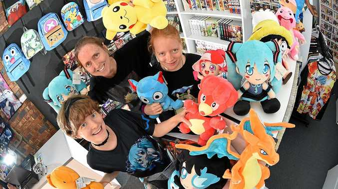 KAZZANGA: An anime, manga and pop culture shop has opened in Currimundi. Family business owners Jamie, Kazz and Jemma Fulloon.