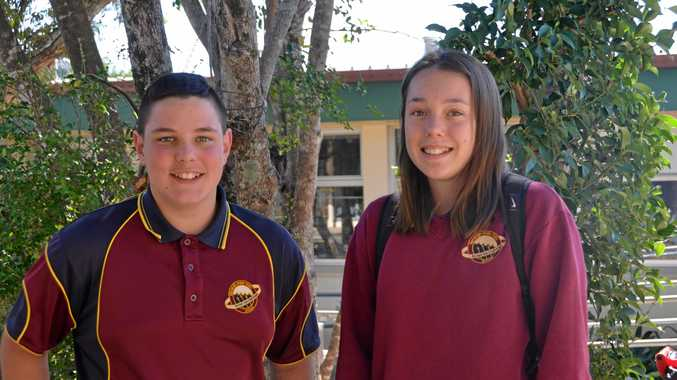 Year 9 Nanango State High School students Declan Balackburn and Harmony Pink sat the NAPLAN test today.