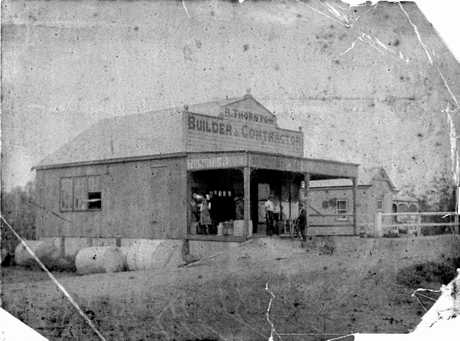 LEFT: A slightly crumpled photo of Ralph Thornton's premises in Tweed Heads.