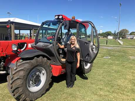 Julie Mills will some of the machinery that will feature at the Ag Trade Expo.
