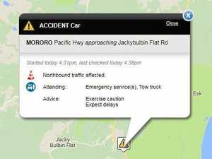UPDATE: Northbound lane slowed after highway car collision