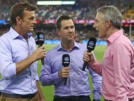 Adam Gilchrist, Ricky Ponting and Damien Fleming were a Big Bash dream team. (Photo by Scott Barbour — CA/Cricket Australia/Getty Images)