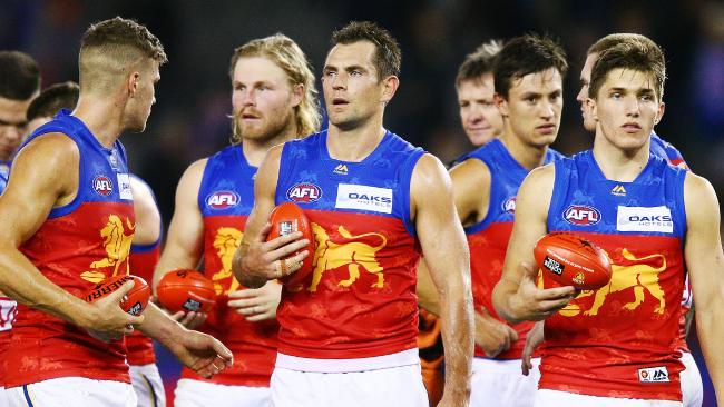 Luke Hodge and the Lions after their weekend loss. Pic: Getty Images