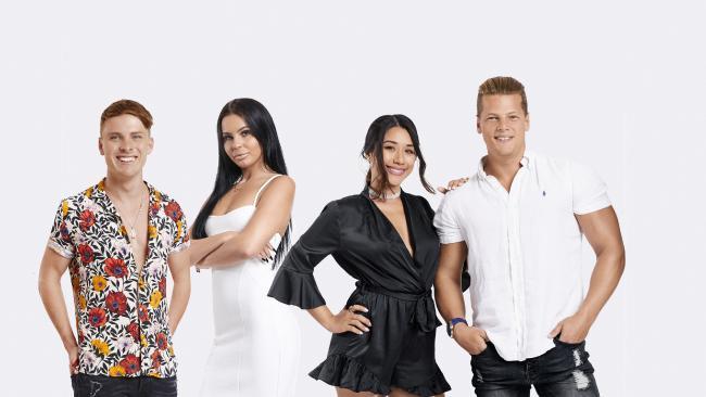 The Australian cast members of Geordie Shore season 17: Nick Murdoch, Chrysten Zenoni, Dee Nguyen and Alex Macpherson