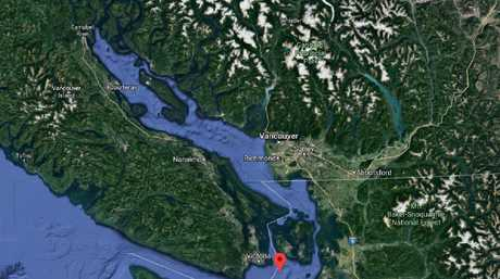 The Salish sea, which divides Vancouver Island from mainland Canada is where the feet have been found.
