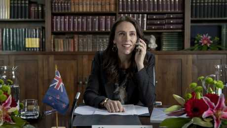NZ Prime Minister Jacinda Ardern appears in the #GetNZonthemap campaign.