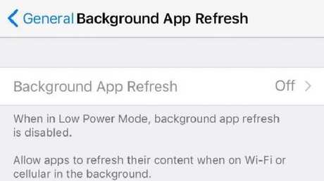 Go to Settings > General > Background App Refresh to make sure it's turned off.