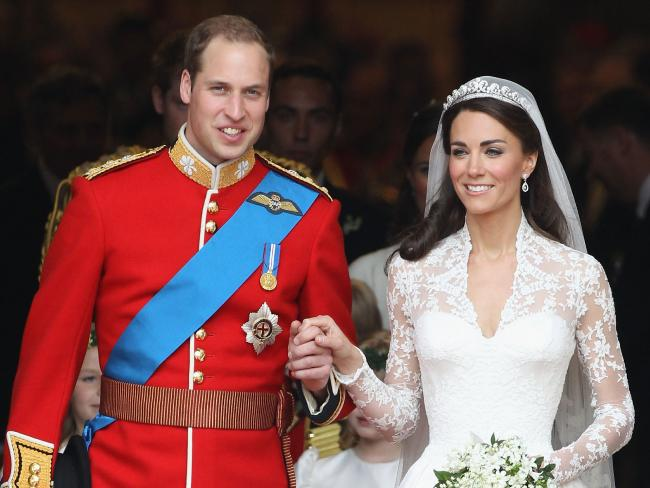 The Duchess of Cambridge wore the Cartier Halo Scroll Tiara on her big day, but it it's currently on loan to the National Gallery of Australia.