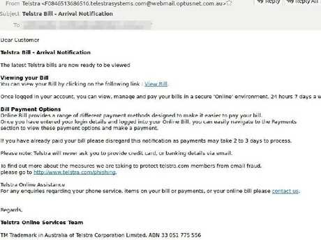 The email address is a giveaway that this is a scam. Picture: MailGuard.