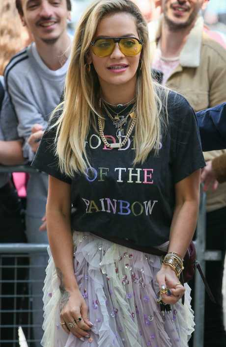 The song, Girls, is said to be about supermodel Cara Delevingne. Picture: Ian Lawrence/MEGA TheMegaAgency.com