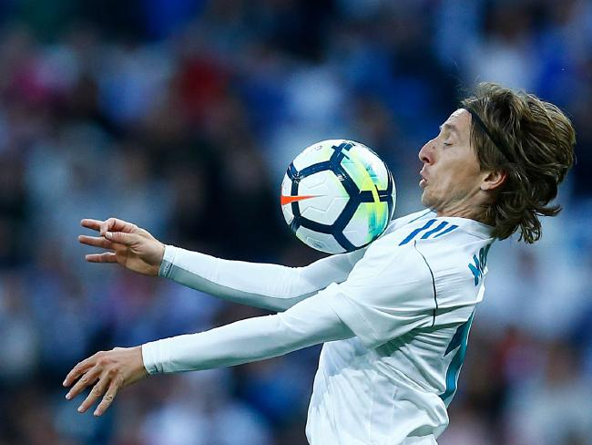 Croatia's mercurial midfielder Luka Modric controls the ball.