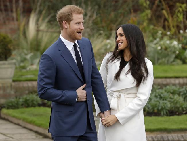 Prince Harry and Meghan Markle will be far apart the night before their wedding. Picture: AP/Matt Dunham