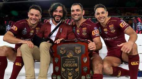 Smith with Cronk, Thurston and Slater. (Adam Head)