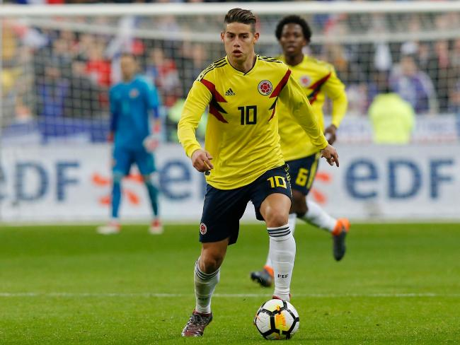 Colombia's James Rodriguez.