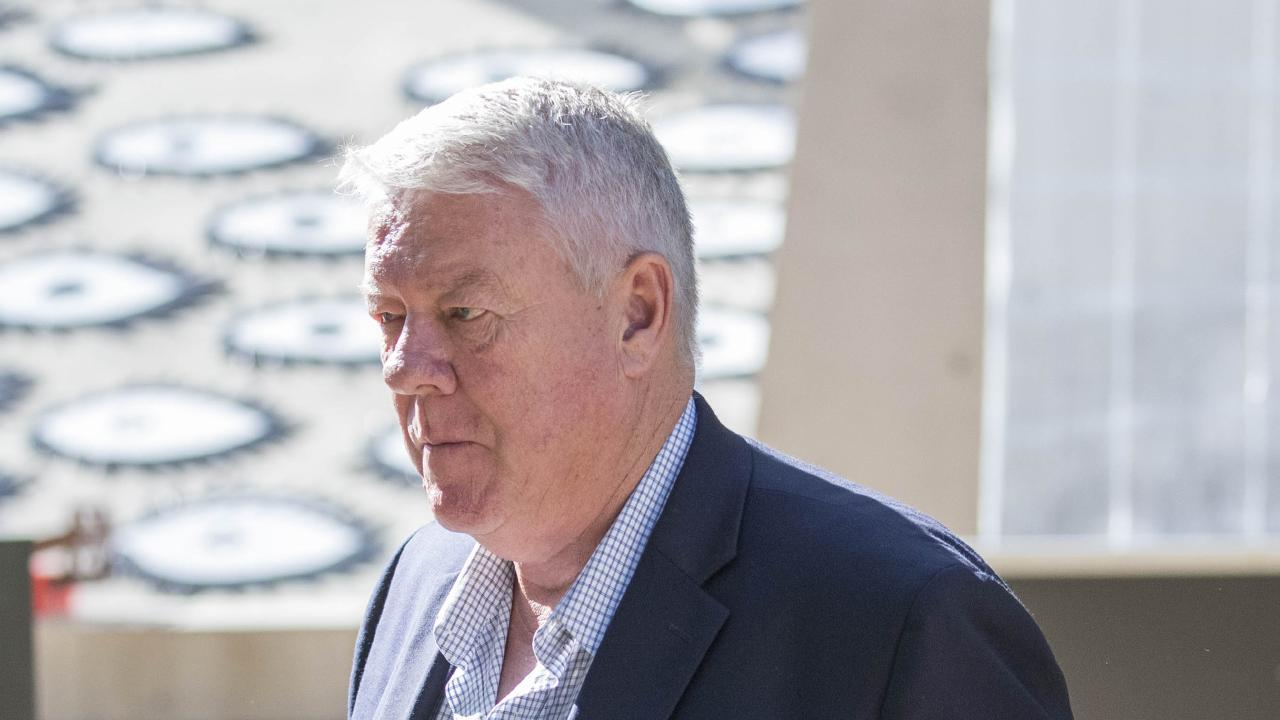 John Wagner outside the Supreme Court in Brisbane during the ongoing defamation case. Picture: Glenn Hunt/AAP