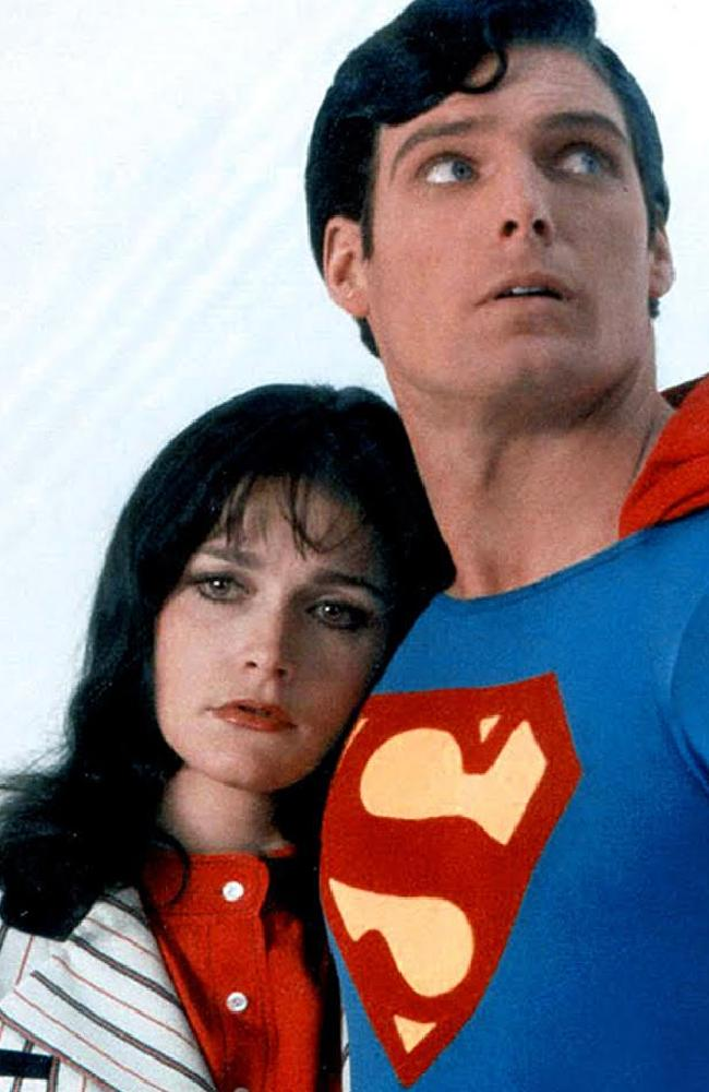 Margot Kidder and Christopher Reeve in Superman. Picture: Supplied