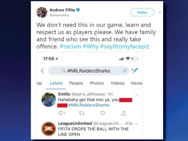 The NRL are investigating this racial slur.