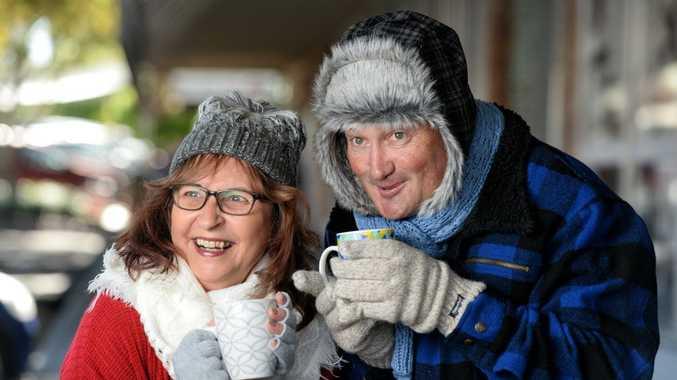 Rita Kirchner and Greg Maynard from Maynards in Boonah are ready for winter.